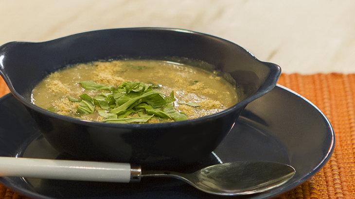 sopa detox para emagrecer rapido de inhame com espinafre